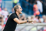 Head coach Gaizka Garitano of Deportivo la Coruna gestures during their La Liga match between Atletico Madrid and Deportivo de la Coruna at the Vicente Calderon Stadium on 25 September 2016 in Madrid, Spain. Photo by Diego Gonzalez Souto / Power Sport Images
