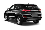 Car pictures of rear three quarter view of 2018 Hyundai Tucson Limited 5 Door Suv Angular Rear