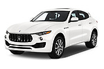 2020 Maserati Levante S 5 Door SUV angular front stock photos of front three quarter view