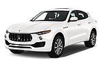 2020 Maserati Levante S 5 Door SUV angular front stock photos of front three quarter view