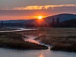 Yellowstone sunrises are beautiful.
