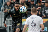 LOS ANGELES, CA - MARCH 01: Mark-Anthony Kaye #14 of the LAFC moves to the ball during a game between Inter Miami CF and Los Angeles FC at Banc of California Stadium on March 01, 2020 in Los Angeles, California.