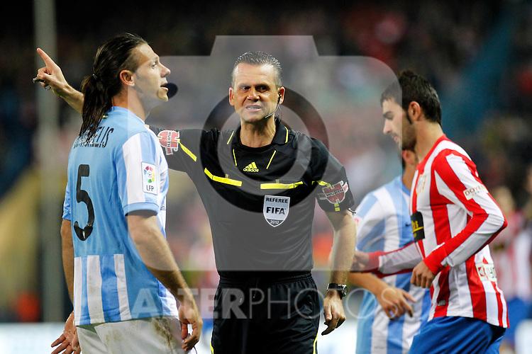 Madrid (05/05/2012).- Estadio Vicente Calderon..Liga BBVA.Atletico de madrid - Malaga Club de Futbol..Cesar Muñiz Fernandez...Photo: Alex Cid-Fuentes / ALFAQUI..