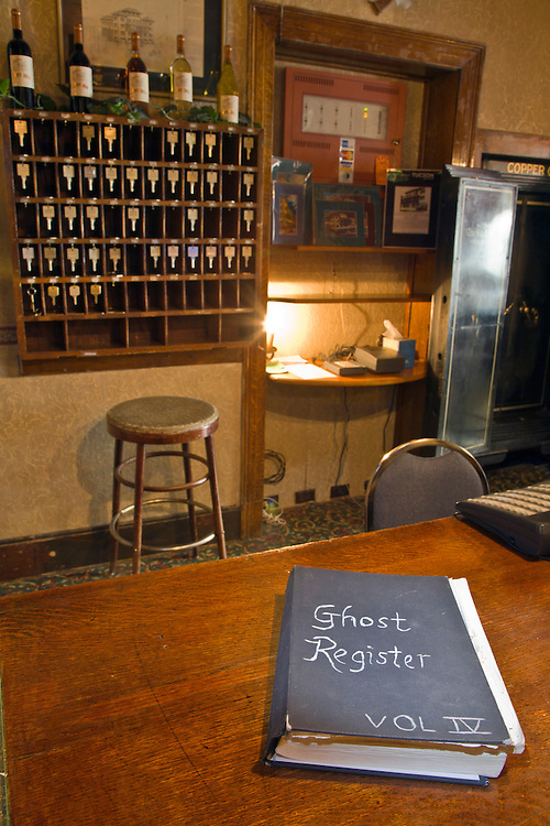 """The """"Ghost Registry"""" at the Copper Queen Hotel in Bisbee, Arizona"""