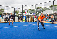 Den Bosch, Netherlands, 16 June, 2017, Tennis, Ricoh Open,  Padel with Paul Haarhuis<br /> Photo: Henk Koster/tennisimages.com