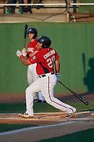 Potomac Nationals Aldrem Corredor (29) at bat during a Carolina League game against the Myrtle Beach Pelicans on August 14, 2019 at Northwest Federal Field at Pfitzner Stadium in Woodbridge, Virginia.  Potomac defeated Myrtle Beach 7-0.  (Mike Janes/Four Seam Images)