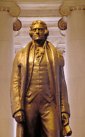 Massive statue of Thomas Jefferson at the Jefferson Memorial, Washington, DC. Historical, Presidents, National Parks. Washington DC USA the Mall.