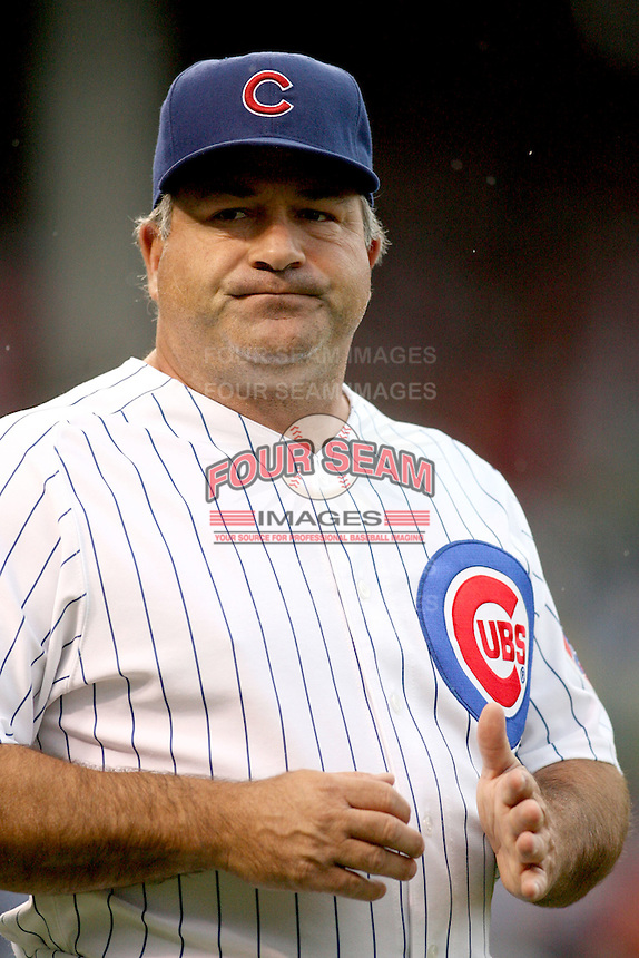 August 18, 2007: Chicago Cubs first base coach Matt Sinatro at Wrigley Field in Chicago, IL.  Photo by:  Chris Proctor/Four Seam Images