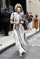 NEW YORK, NY- September 08: Anna Wintour seen at NYFW SS/2022 at Spring Studios in New York City September 08, 2021. <br /> CAP/MPI/RW<br /> ©RW/MPI/Capital Pictures