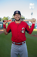 Springfield Cardinals outfielder Dylan Carlson (8) poses for a photo on May 16, 2019, at Arvest Ballpark in Springdale, Arkansas. (Jason Ivester/Four Seam Images)