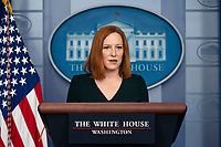 White House Press Secretary Jen Psaki speaks during her daily press briefing at the White House on Tuesday, May 4, 2021 in Washington, D.C. Credit: Alex Edelman / Pool via CNP /MediaPunch