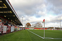 General view of the ground ahead of kick-off during Stevenage vs Luton Town, Sky Bet League 2 Football at the Lamex Stadium, Stevenage, England on 21/11/2015