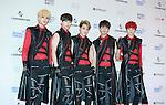 LU:KUS, Jun 07, 2014 : K-pop boy band LU:KUS pose before the Dream Concert in Seoul, South Korea. (Photo by Lee Jae-Won/AFLO) (SOUTH KOREA)