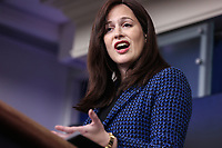 White House deputy national security adviser Anne Neuberger speaks during a press briefing on Wednesday, February 17, 2021, in Washington, DC. <br /> CAP/MPI/RS<br /> ©RS/MPI/Capital Pictures