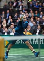Rotterdam, The Netherlands. 13.02.2014. Andy Murray(GRB) at the ABN AMRO World tennis Tournament<br /> Photo:Tennisimages/Henk Koster