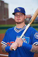 Oklahoma City Dodgers right fielder Alex Verdugo (27) poses for a photo before a game against the Colorado Springs Sky Sox on June 2, 2017 at Chickasaw Bricktown Ballpark in Oklahoma City, Oklahoma.  Colorado Springs defeated Oklahoma City 1-0 in ten innings.  (Mike Janes/Four Seam Images)