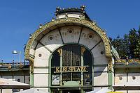 Jugendstil Pavillon der Stadtbahn am Karlsplatz, Wien, Österreich, UNESCO-Weltkulturerbe<br /> Art Nouveaux Pavilion of city train, Vienna, Austria, world heritage