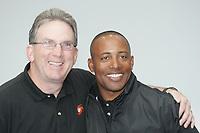 Defensive Coordinator Ed O'Neil mit Coach Kenny Stills (beide Frankfurt Galaxy)