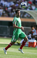 Jose Antonio Castro chases down the ball. Mexico defeated Nicaragua 2-0 during the First Round of the 2009 CONCACAF Gold Cup at the Oakland, Coliseum in Oakland, California on July 5, 2009.