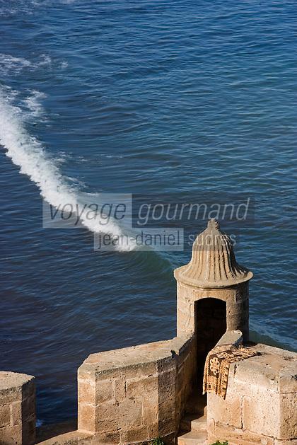 Afrique/Afrique du Nord/Maroc/Rabat: la kasbah des Oudaïas détail d'une echauguette d'une tour des fortifications