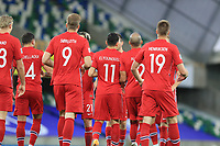 7th September 2020; Windsor Park, Belfast, County Antrim, Northern Ireland; EUFA Nations League, Group B, Northern Ireland versus Norway; Mohamed Elyounoussi of Norway celebrates with hime team mates after scoring the opening goal in the 2nd minute
