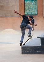 Skateboarding, Seattle Center, WA, USA.