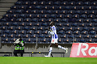 20th December 2020; Dragao Stadium, Porto, Portugal; Portuguese Championship 2020/2021, FC Porto versus Nacional; Moussa Marega of FC Porto celebrates his penalty kick goal in the 39th minute 2-0