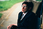 Professor Stephen Hawking 1981 Cambridge University UK 1980s