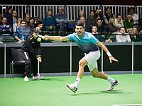 Rotterdam, Netherlands, 9 februari, 2019, Ahoy, Tennis, ABNAMROWTT, FRANKO SKUGOR (CRO) Photo: Henk Koster/tennisimages.com