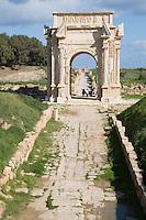 Leptis Magna, Libya - Arch of Septimius Severus, A.D. 203