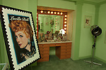 """The """"For Redheads Only"""" make up room at the Hollywood History Museum features Lucille Ball and the make up Max Factor used on her."""