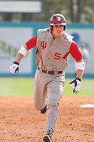 Wes Wilson #5 of the University of Indiana Hoosiers running to 3rd base during a game against the Virginia Tech Hokies at Watson Stadium at Vrooman Field in Conway, South Carolina on February 18, 2011. Photo by Robert Gurganus/Four Seam Images
