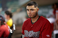Fort Wayne TinCaps Tirso Ornelas (30) during a game against the Dayton Dragons on August 25, 2021 at Parkview Field in Fort Wayne, Indiana.  (Mike Janes/Four Seam Images)