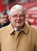 English football commentator John Motson OBE arriving pre match during the FA Cup 4th round match between Brentford and Leicester City at Griffin Park, London, England on 25 January 2020. Photo by Andy Aleks.