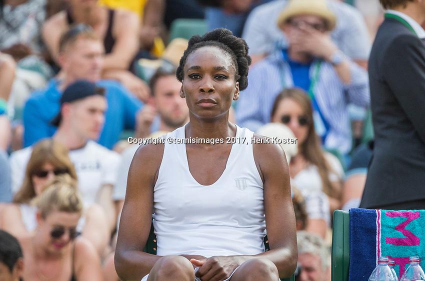 London, England, 7 th July, 2017, Tennis,  Wimbledon, Venus Williams (USA)<br /> Photo: Henk Koster/tennisimages.com