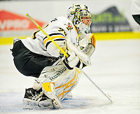 29 December 2010: University of Vermont Catamount goaltender Rob Madore, a Junior from Pittsburgh, PA, in action against the 2011 U.S. Men's National University Team in an exhibition game at Gutterson Fieldhouse in Burlington, Vermont. The Catamounts defeated the National team 7-1. Mandatory Credit: Ed Wolfstein Photo