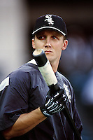 Craig Wilson of the Chicago White Sox during a game against the Anaheim Angels at Angel Stadium circa 1999 in Anaheim, California. (Larry Goren/Four Seam Images)
