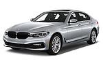 2018 BMW 5 Series 540i Sport Line 4 Door Sedan angular front stock photos of front three quarter view