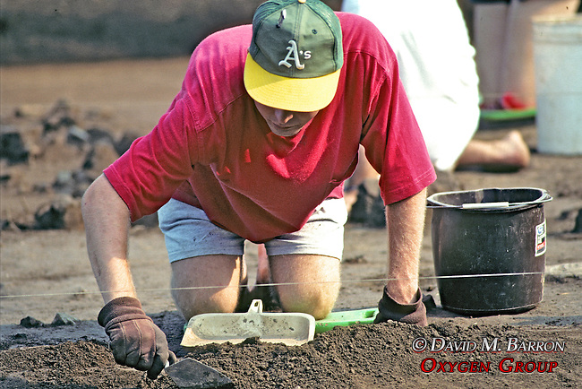 Digging At Archeological Site