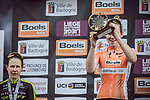 Anna Van Der Breggen (NED) Boels Dolmans Cycling Team wins the 2018 Liege-Bastogne-Liege Femmes running 136km from Bastogne to Ans, Belgium. 22nd April 2018.<br /> Picture: ASO/Thomas Maheux | Cyclefile<br /> All photos usage must carry mandatory copyright credit (© Cyclefile | ASO/Thomas Maheux)