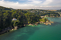 BNPS.co.uk (01202 558833)<br /> Pic: Savills/BNPS<br /> <br /> Match the £2m asking price and you could be living the high life. <br /> <br /> A breathtaking clifftop home that comes with its own private beach has emerged for sale for an incredible £2m.<br /> <br /> Bar Lodge, which dates back to the Edwardian period, sits in a stunning coastal position right in the mouth of the Salcombe Estuary in Devon.<br /> <br /> It is positioned high above the sea and enjoys unrivaled views right across the picturesque waterway and rocky coastline.