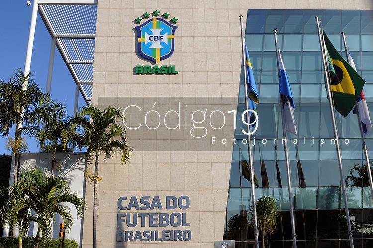 Rio de Janeiro (RJ), 11/05/2020 - CBF-Rio - Sede da CBF. A Confederacao Brasileira de Futebol e a entidade maxima do futebol no Brasil. Fundada em 8 de junho de 1914,localizada na Barra da Tijuca,na zona oeste da cidade do Rio de Janeiro, nesta segunda-feira (11). (Foto: Alexandre Durao/Codigo 19/Codigo 19)