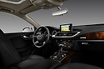 Stock photo of straight dashboard view of 2012 Audi A7 Sportback 4 Door Hatchback