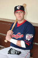 Pawtucket Red Sox Dustin Pedroia during an International League game at Frontier Field on July 4, 2006 in Rochester, New York.  (Mike Janes/Four Seam Images)