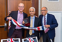 Jersey City, NJ - May 25, 2019:  Sunil Gulati and Abby Wambach were announced as the newest members of the National Soccer Hall of Fame.