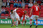 Wales Robert Earnshaw during the International Friendly between Wales and Luxembourg at Parc y Scarlets in LLanelli..