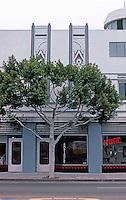 Santa Monica CA: Merle Norman Building in 1985.  Photo '85.