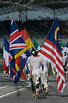 05 Apr 2009, Kuala Lumpur, Malaysia --- Paddock girls carry flags prior the 2009 Fia Formula One Malasyan Grand Prix at the Sepang circuit near Kuala Lumpur. Photo by Victor Fraile --- Image by © Victor Fraile / The Power of Sport Images
