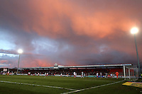 Sunset over the Lamex during Stevenage vs Grimsby Town, Sky Bet EFL League 2 Football at the Lamex Stadium on 28th January 2017
