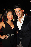 Jenny Harris and Colin Moussa on the red carpet at Fashion Houston at the Wortham Theater Thursday Nov.14,2013.  (Dave Rossman photo)